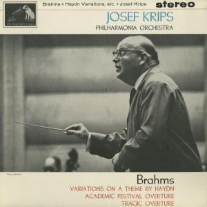 <中古クラシックLPレコード>ブラームス:ハイドン変奏曲,大学祝典序曲,悲劇的序曲/J.クリップス指揮フィルハーモニアo./英HMV:ASD 573