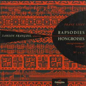 <中古クラシックLPレコード>リスト:ハンガリー狂詩曲1〜15番/S.フランソワ(pf)/仏COLUMBIA:FCX 332-4|silent-tone-record