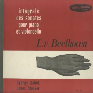 <中古クラシックLPレコード>ベートーヴェン:チェロ・ソナタ(全5曲)/J.シュタルケル(vc)G.シェベック(pf)/仏ERATO:EJAS 6-7
