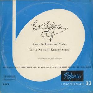 <中古クラシックLPレコード>ベートーヴェン:ヴァイオリン・ソナタ9番Op.47「クロイツェル」/A.レーヴェングート(vn)F.ドロー(pf)/独OPERA:1972
