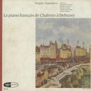 <中古クラシックLPレコード>「フランスピアノ曲集」シャブリエ,セヴラック,アーン,サン・サーンス,ドビュッシー/M.タリアフェロ(pf)/仏ERATO:EJA 12|silent-tone-record