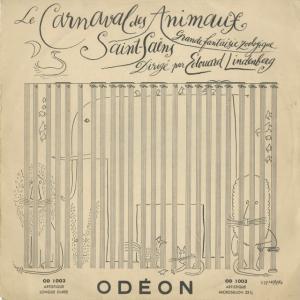 <中古クラシックLPレコード>サン・サーンス:動物の謝肉祭/E.リンデンベルク指揮R.トゥルアール(pf)H.メルケル(vn)A.ナヴァラ(Vc)|silent-tone-record