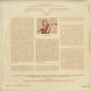 <中古クラシックLPレコード>ラヴェル:フォーレの名による子守歌,ファリャ:スペイン舞曲,シマノフスキ,ミヨー/J.マルツィ(vn)J.アントネッティ(pf)|silent-tone-record|02