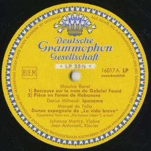 <中古クラシックLPレコード>ラヴェル:フォーレの名による子守歌,ファリャ:スペイン舞曲,シマノフスキ,ミヨー/J.マルツィ(vn)J.アントネッティ(pf)|silent-tone-record|03