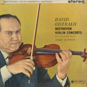 <中古クラシックLPレコード>ベートーヴェン:ヴァイオリン協奏曲Op.61/D.オイストラフ(vn)A.クリュイタンス指揮フランス国立放送o.