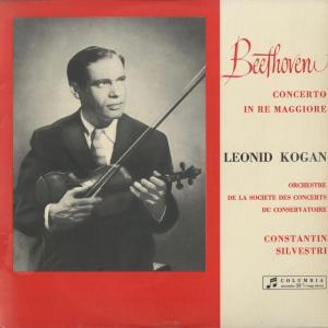 <中古クラシックLPレコード>ベートーヴェン:ヴァイオリン協奏曲Op.61/L.コーガン(vn)C.シルヴェストリ指揮パリ音楽院o./伊COLUMBIA:SAXQ 7308|silent-tone-record