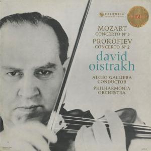 <中古クラシックLPレコード>モーツァルト:ヴァイオリン協奏曲3番,他/D.オイストラフ(vn)A.ガリエラ指揮フィルハーモニアo.
