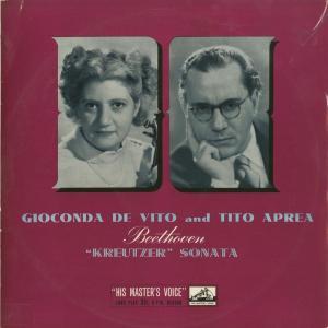 <中古クラシックLPレコード>ベートーヴェン:ヴァイオリン・ソナタOp.47「クロイツェル」/G.デ・ヴィート(vn)T.アプレーア(pf)/英HMV:ALP 1319