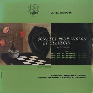 <中古クラシックLPレコード>バッハ:6つのヴァイオリン・ソナタVol.1・2/R.バルヒェット(vn)R.ヴェイロン・ラクロワ(cemb)/仏ERATO:STE 50079〜