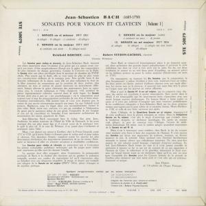 <中古クラシックLPレコード>バッハ:6つのヴァイオリン・ソナタVol.1・2/R.バルヒェット(vn)R.ヴェイロン・ラクロワ(cemb)/仏ERATO:STE 50079〜|silent-tone-record|02
