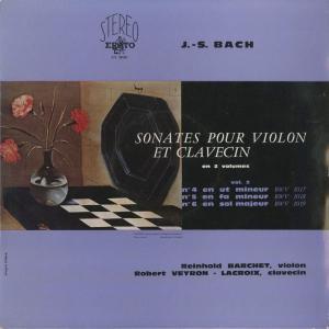 <中古クラシックLPレコード>バッハ:6つのヴァイオリン・ソナタVol.1・2/R.バルヒェット(vn)R.ヴェイロン・ラクロワ(cemb)/仏ERATO:STE 50079〜|silent-tone-record|04