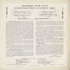 <中古クラシックLPレコード>バッハ:6つのヴァイオリン・ソナタVol.1・2/R.バルヒェット(vn)R.ヴェイロン・ラクロワ(cemb)/仏ERATO:STE 50079〜|silent-tone-record|05