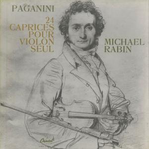 <中古クラシックLPレコード>パガニーニ:24の奇想曲Op.1/M.レビン(vn)/仏CAPITOL:PBR 8477