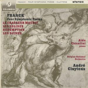 <中古クラシックLPレコード>「フランク:4つの交響詩」のろわれた狩人,アイオロスの人々,魔神,贖罪/A.クリュイタンス指揮ベルギー国立o.他