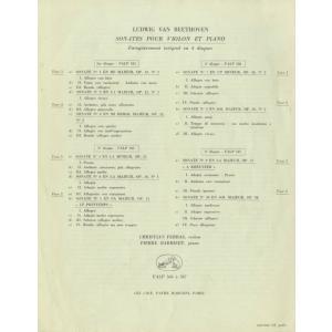 <中古クラシックLPレコード>ベートーヴェン:ヴァイオリン・ソナタ全集(10曲)/C.フェラス(vn)P.バルビゼ(pf)/仏VSM:FALP 584-7|silent-tone-record|02