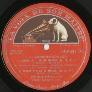 <中古クラシックLPレコード>ベートーヴェン:ヴァイオリン・ソナタ全集(10曲)/C.フェラス(vn)P.バルビゼ(pf)/仏VSM:FALP 584-7|silent-tone-record|03