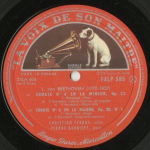 <中古クラシックLPレコード>ベートーヴェン:ヴァイオリン・ソナタ全集(10曲)/C.フェラス(vn)P.バルビゼ(pf)/仏VSM:FALP 584-7|silent-tone-record|04