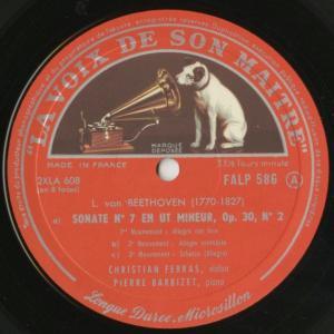<中古クラシックLPレコード>ベートーヴェン:ヴァイオリン・ソナタ全集(10曲)/C.フェラス(vn)P.バルビゼ(pf)/仏VSM:FALP 584-7|silent-tone-record|05
