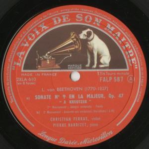 <中古クラシックLPレコード>ベートーヴェン:ヴァイオリン・ソナタ全集(10曲)/C.フェラス(vn)P.バルビゼ(pf)/仏VSM:FALP 584-7|silent-tone-record|06