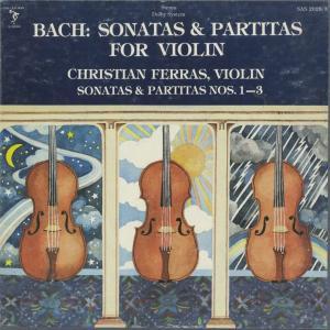 <中古クラシックLPレコード>バッハ:6つの無伴奏ヴァイオリン・ソナタBWV.1001〜1006/C.フェラス(vn)/米SINE QUA NON SUPERBA:SAS 2028