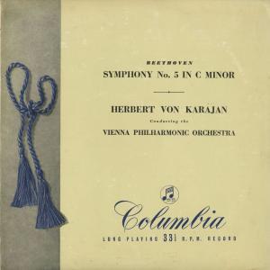 <中古クラシックLPレコード>ベートーヴェン:交響曲5番Op.67「運命」/H.v.カラヤン指揮ウィーンpo./英COLUMBIA:33CX 1004|silent-tone-record