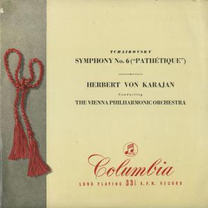 <中古クラシックLPレコード>チャイコフスキー:交響曲6番Op.74「悲愴」/H.v.カラヤン指揮ウィーンpo./英COLUMBIA:33CX 1026|silent-tone-record