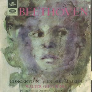 <中古クラシックLPレコード>ベートーヴェン:ピアノ協奏曲4番Op.58/W.ギーゼキング(pf)A.ガリエラ指揮フィルハーモニアo./仏COLUMBIA:SAXF 1037|silent-tone-record