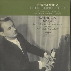 <中古クラシックLPレコード>プロコフィエフ:ピアノ協奏曲3番,5番/S.フランソワ(pf)W.ロヴィツキ指揮フィルハーモニアo./仏COLUMBIA:SAXF 986|silent-tone-record
