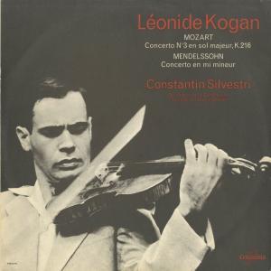 <中古クラシックLPレコード>モーツァルト:ヴァイオリン協奏曲3番,メンデルスゾーン:ヴァイオリン協奏曲/L.コーガン(vn)C.シルヴェストリ指揮パリ音楽院o.|silent-tone-record