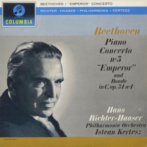 <中古クラシックLPレコード>ベートーヴェン:ピアノ協奏曲5番「皇帝」,ロンド/H.リヒター・ハーザー(pf)I.ケルテス指揮フィルハーモニアo./SAX 2422|silent-tone-record