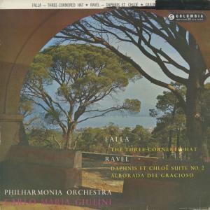 <中古クラシックLPレコード>ファリャ:三角帽子,ラヴェル:ダフニスとクロエ第2組曲,道化師の朝の歌/C.M.ジュリーニ指揮フィルハーモニアo./SAX 2341|silent-tone-record