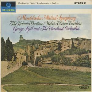<中古クラシックLPレコード>メンデルスゾーン:交響曲4番「イタリア」,フィンガルの洞窟,ウェーバー:オベロン/G.セル指揮クリーヴランドo/SAX 2524|silent-tone-record