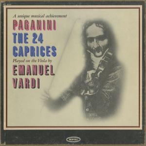 <中古クラシックLPレコード>パガニーニ:24の奇想曲Op.1/E.ヴァルディ/米EPIC:SC 6049|silent-tone-record
