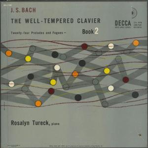 <中古クラシックLPレコード>バッハ:平均律クラヴィア曲集第2巻(全24曲)/R.テュレック(pf)/米DECCA:DX 128|silent-tone-record