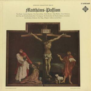 <中古クラシックLPレコード>バッハ:マタイ受難曲/A.v.d.ホルスト指揮ハーグ・レジデンツィo./オランダ・バッハ協会o.,他/蘭TELEFUNKEN:LT 6598-601|silent-tone-record