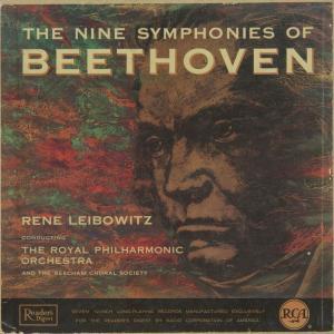 <中古クラシックLPレコード>ベートーヴェン:交響曲全集(9曲)/R.レイボヴィツ指揮ロイヤルpo./ビーチャム合唱協会cho.,他/英RCA:RDM 20-6|silent-tone-record