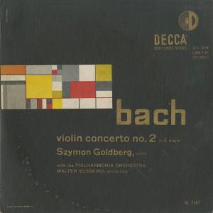 <中古クラシックLPレコード>バッハ:ヴァイオリン協奏曲2番/S.ゴールドベルク(vn)W.ジュスキント指揮フィルハーモニアo./米DECCA:DL 7507|silent-tone-record