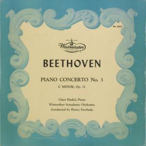 <中古クラシックLPレコード>ベートーヴェン:ピアノ協奏曲3番Op.37/C.ハスキル(pf)H.スウォボダ指揮ウィンタートゥールso./米WESTMINSTER:WL 5057|silent-tone-record