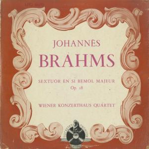 <中古クラシックLPレコード>ブラームス:弦楽六重奏曲1番Op.18/ウィーン・コンツェルトハウスQt./仏デュクレテ・トムソン:LPG 8670|silent-tone-record
