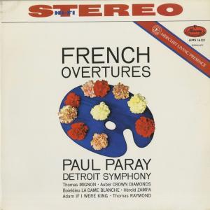 <中古クラシックLPレコード>フランス序曲集/トマ,オーベール,ボイエルデュー,エロルド,アダン/P.パレー指揮デトロイトso./英MERCURY:AMS 16121|silent-tone-record
