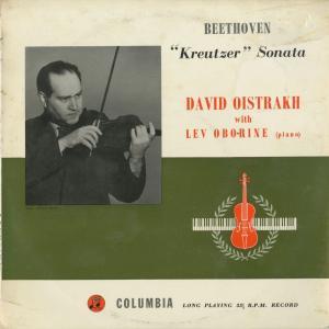 <中古クラシックLPレコード>ベートーヴェン:ヴァイオリン・ソナタ9番「クロイツェル」/D.オイストラフ(vn)L.オボーリン(pf)/英COLUMBIA:33C 1047|silent-tone-record