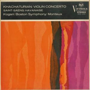 <中古クラシックLPレコード>ハチャトゥリャン:ヴァイオリン協奏曲,サン・サーンス:ハバネラ/L.コーガン(vn)P.モントゥー指揮ボストンso./VICS 1153|silent-tone-record