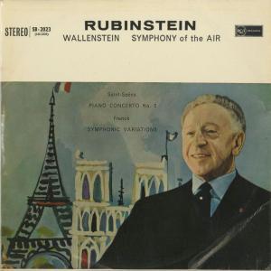 <中古クラシックLPレコード>サン・サーンス:ピアノ協奏曲2番,フランク/A.ルービンシュタイン(pf)A.ウォーレンスタイン指揮シンフォニー・オブ・ジ・エア|silent-tone-record