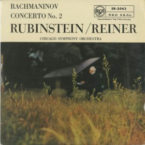 <中古クラシックLPレコード>ラフマニノフ:ピアノ協奏曲2番Op.18/A.ルービンシュタイン(pf)F.ライナー指揮シカゴso./英RCA:SB 2043|silent-tone-record