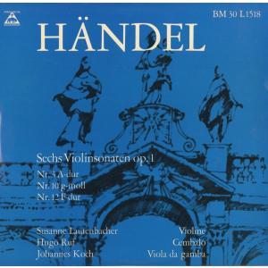 <中古クラシックLPレコード>ヘンデル:6つのヴァイオリン・ソナタ/S.ラウテンバッハー(vn)J.コッホ(gamb)H.ルフ(cemb)/BM30L 1518-9|silent-tone-record