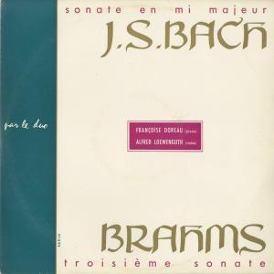 <中古クラシックLPレコード>バッハ:ヴァイオリン・ソナタ3番,ブラームス:ヴァイオリン・ソナタ3番/A.レーヴェングート(vn)F.ドロー(pf)|silent-tone-record