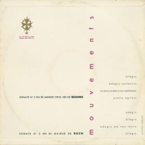 <中古クラシックLPレコード>バッハ:ヴァイオリン・ソナタ3番,ブラームス:ヴァイオリン・ソナタ3番/A.レーヴェングート(vn)F.ドロー(pf) silent-tone-record 02