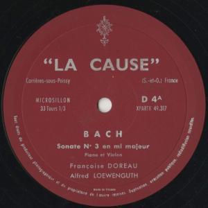 <中古クラシックLPレコード>バッハ:ヴァイオリン・ソナタ3番,ブラームス:ヴァイオリン・ソナタ3番/A.レーヴェングート(vn)F.ドロー(pf) silent-tone-record 03