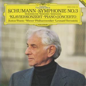 <中古クラシックLPレコード>シューマン:交響曲3番Op.97,ピアノ協奏曲Op.54/J.フランツ(pf)L.バーンスタイン指揮ウィーンpo./独DGG:415 3581|silent-tone-record