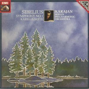 <中古クラシックLPレコード>シベリウス:交響曲1番Op.39,「カレリア」組曲Op.11/H.v.カラヤン指揮ベルリンpo./独ELECTROLA:1C 067-43050 silent-tone-record
